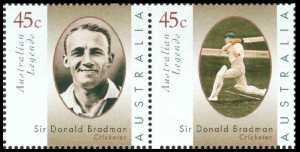 Don Bradman,  determined Aussie cricketer
