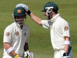 Michael Clarke and Phillip Hughes cc