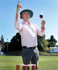 Sam Neil, cricket umpire at Wellington's Pinot Noir conference  cc