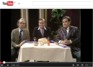 The Two Ronnies: cricket commentators