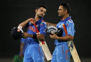 Kholi and Dhoni, India vs South Africa 2014