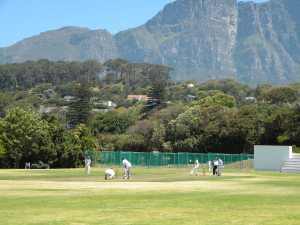Wynberg Boys High School -  the Jacques Kallis Oval beneath Table Mountain