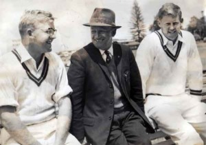 Eddie Barlow, Don Bradman, Graeme Pollock, Adelaide 1964