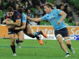 The Rebels in battle against the Waratahs