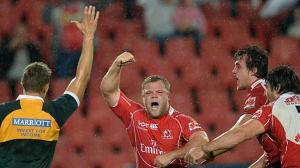 Armand van der Merwe celebrates his late five pointer