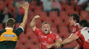 Armand van der Merwe celebrates his late five pointer
