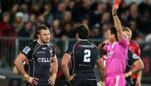 Sharks flanker Jean Deysel pleased guilty to a charge of stamping following the red card he received against the Crusaders in Christchurch on Saturday. He has been suspended for three weeks.